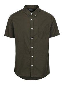 Kaki košeľa s krátkym rukávom Burton Menswear London