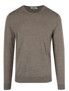 Béžový vlnený sveter Jack & Jones Premium Mark
