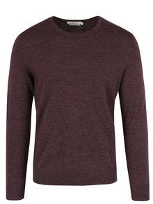 Vínový žíhaný vlněný svetr Jack & Jones Premium Mark