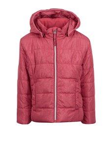 Ružová vzorovaná dievčenská prešívaná bunda name it Mit