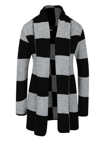 Černo-šedý vzorovaný cardigan Haily´s Enni