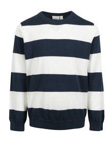 Modro-biely chlapčenský pruhovaný sveter name it Valter