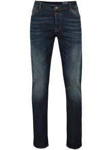 Tmavomodré pánske slim fit rifle Cross Jeans