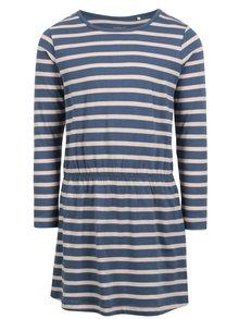 Modré dievčenské pruhované šaty name it Velvet