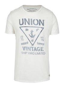 Krémové slim fit tričko s potiskem Jack & Jones Haden