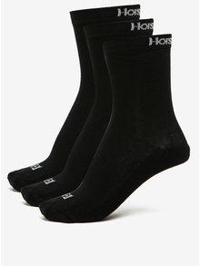 Súprava troch párov čiernych pánskych ponožiek Horsefeathers Delete