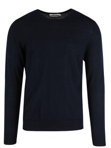 Pulover albastru închis Jack & Jones Premium mark din lână