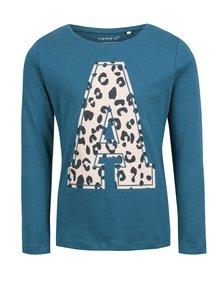 Modré dievčenské tričko s potlačou name it Veen