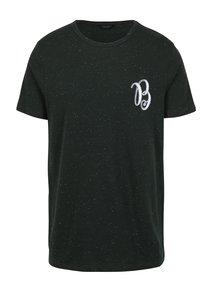 Tmavě zelené tričko s výšivkou Jack & Jones Ben
