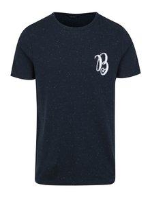 Tmavě modré tričko s výšivkou Jack & Jones Ben
