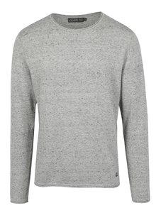 Světle šedý žíhaný svetr Jack & Jones Wills