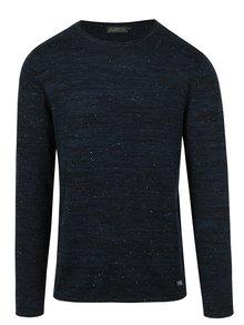 Tmavě modrý žíhaný svetr Jack & Jones Wills