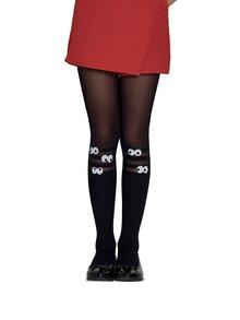 Černé holčičí punčocháče s motivem očí Penti Wonder 30 DEN