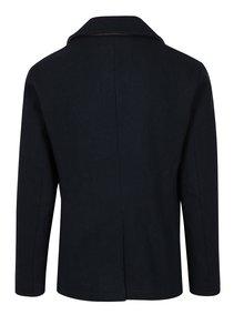 Tmavomodrý kabát s prímesou vlny Jack & Jones Arnold