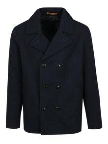 Tmavě modrý kabát s příměsí vlny Jack & Jones Arnold