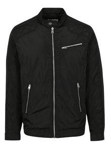 Čierna bunda so zipsom Jack & Jones Desi