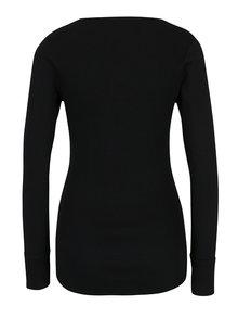 Čierne rebrované tričko so šnurovaním v dekolte Haily´s Britta