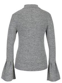 Sivý sveter so zvonovými rukávmi Haily's Choker