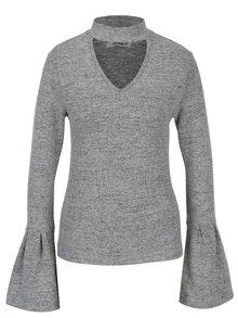 Šedý svetr se zvonovými rukávy Haily´s Choker