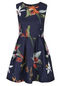 Tmavě modré šaty s překládanou sukní Haily´s Saskia
