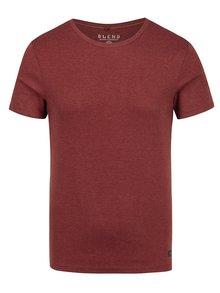 Cihlové basic tričko s kulatým výstřihem Blend
