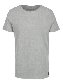 Tricou basic gri cu decolteu rotund Blend