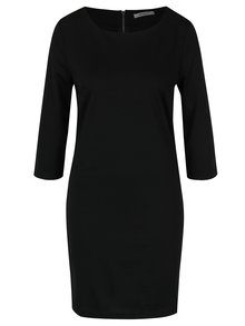 Černé rovné šaty s 3/4 rukávem Haily´s Courty