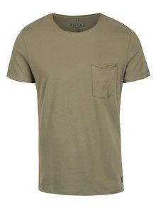 Khaki slim fit  tričko s náprsní kapsou Blend