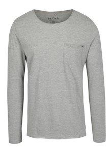 Bluză basic gri cu buzunar Blend