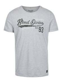 Šedé slim fit tričko s potiskem Blend