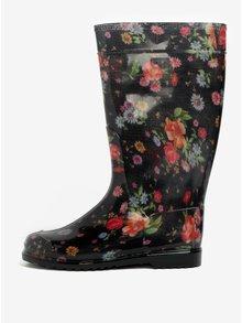 Černé dámské květované holínky Oldcom Rain