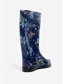 Modré dámske kvetované gumáky Oldcom Rain