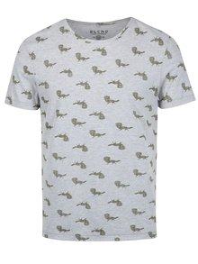 Šedé vzorované slim fit tričko  Blend