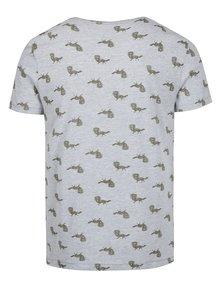 Sivé vzorované slim fit tričko  Blend