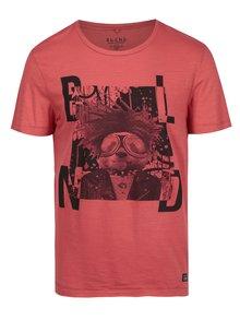 Tricou roșu cu print de inspirație punk Blend