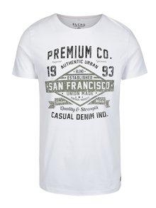 Bílé pánské slim fit tričko s potiskem Blend