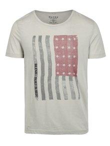 Krémové pánské slim fit tričko s motivem vlajky Blend