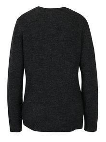 Tmavosivý sveter so vzorom kvetín a prímesou vlny z alpaky VERO MODA Compton