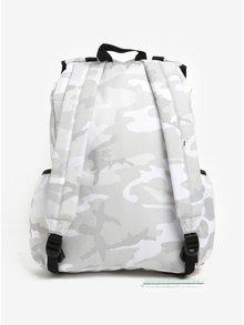 Bielo-sivý maskáčový unisex batoh VANS Caravaner 23 l