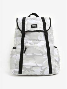 Bílo-šedý maskáčový unisex batoh VANS Caravaner 23 l