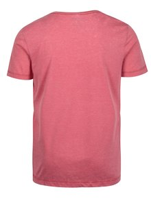Tricou roz slim fit cu inscripție Blend