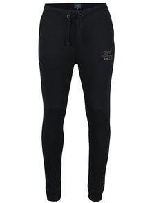 Pantaloni sport negri cu print Blend