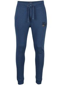 Pantaloni sport albaștri cu print Blend