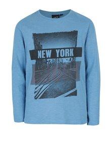 Modré klučičí tričko s potiskem LIMITED by name it Nesco
