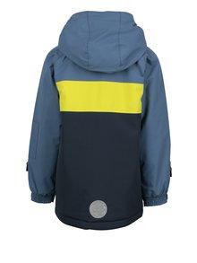 Modrá chlapčenská funkčná bunda so snímateľnou kapucňou a neónovým prúžkom Lego Wear Jazz