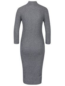 Šedé pouzdrové svetrové šaty VERO MODA Ava
