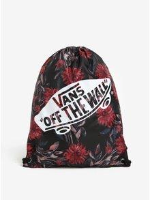 Červeno-černý dámský květovaný vak VANS Benched