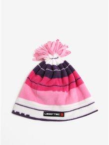 Ružová dievčenská pruhovaná čapica so strapcami Lego Wear Ayan