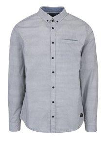 Modro-biela vzorovaná slim fit košeľa Blend