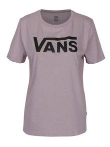 Fialové dámské tričko s potiskem VANS Flying